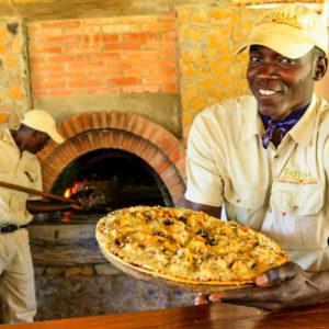 Fathala safari lodge pizza oven