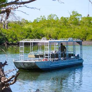 Riverboat on lake