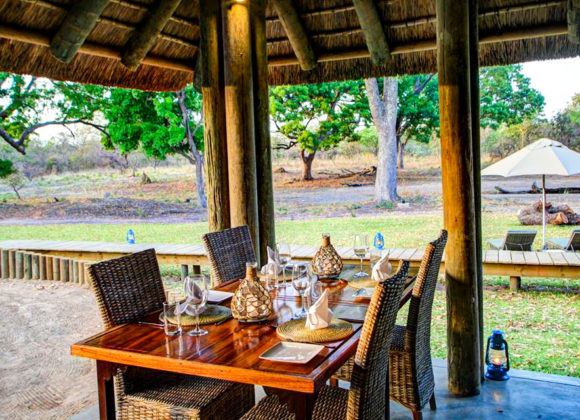 safari lodge outdoor dining area