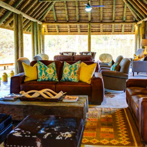 Senegal safari lodge lounge area