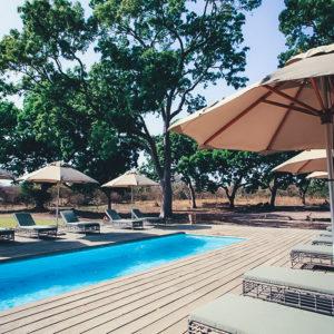 Fathala swimming pool and sun loungers