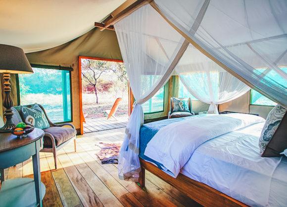 Safari tented bedroom