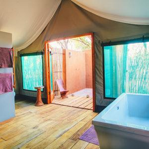 Safari tent bathroom