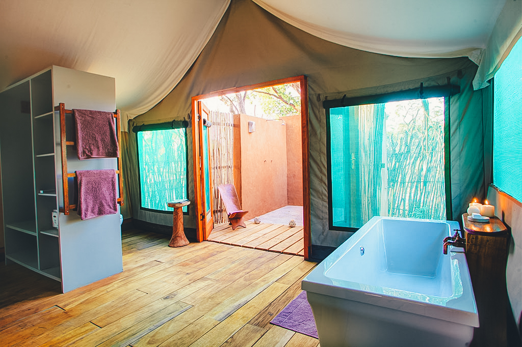 Safari tent bathroom