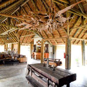 Senegal safari lodge dining area