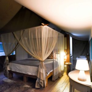 Senegal safari tented lodge bedroom