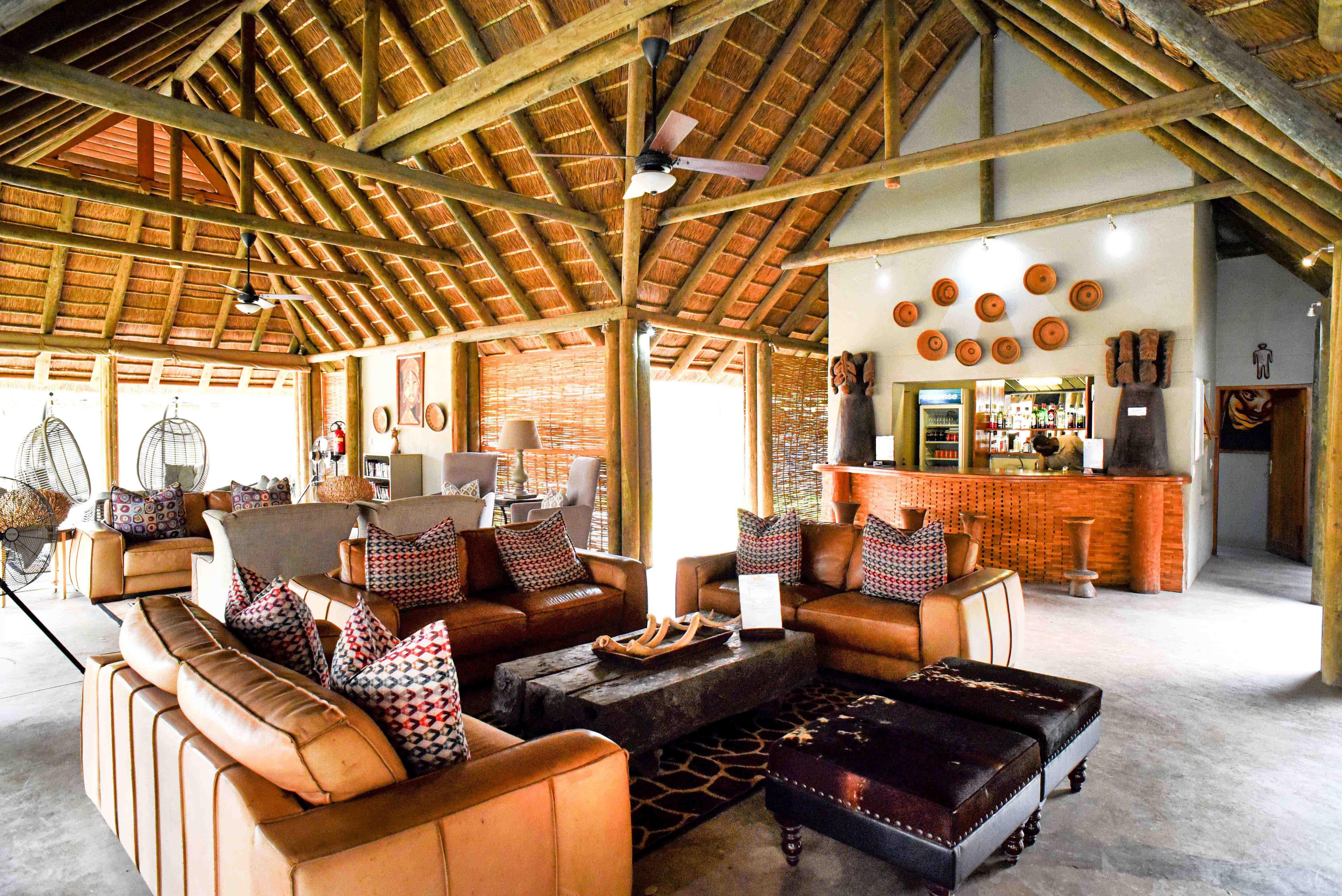 Senegal safari lodge lounge area