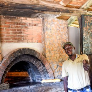 Safari lodge pizza oven