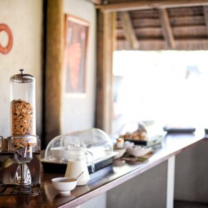 Safari lodge breakfast buffet