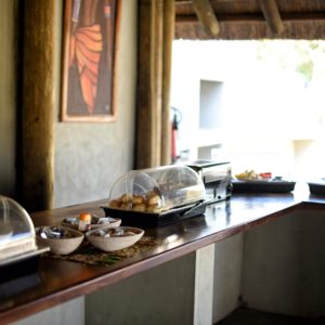 Safari lodge dining buffet