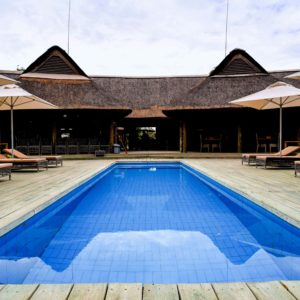 Senegal safari lodge swimming pool