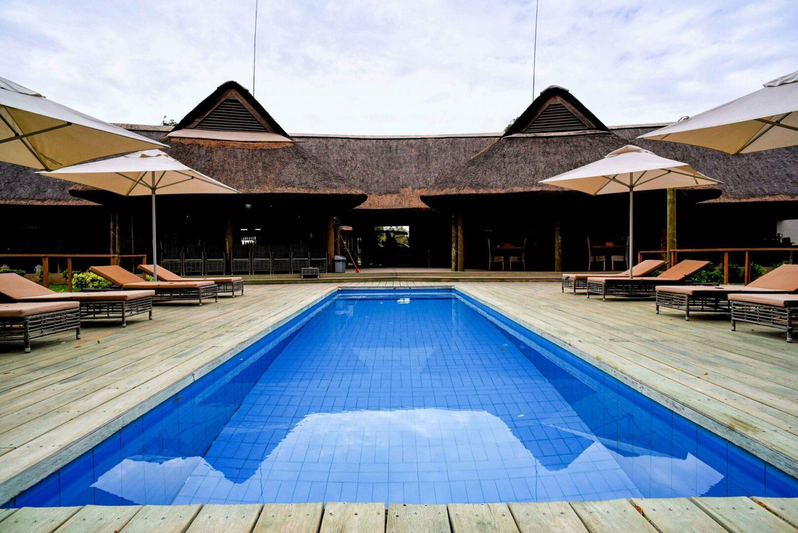 Senegal safari lodge swimming pool