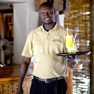 Senegal safari lodge waitron staff