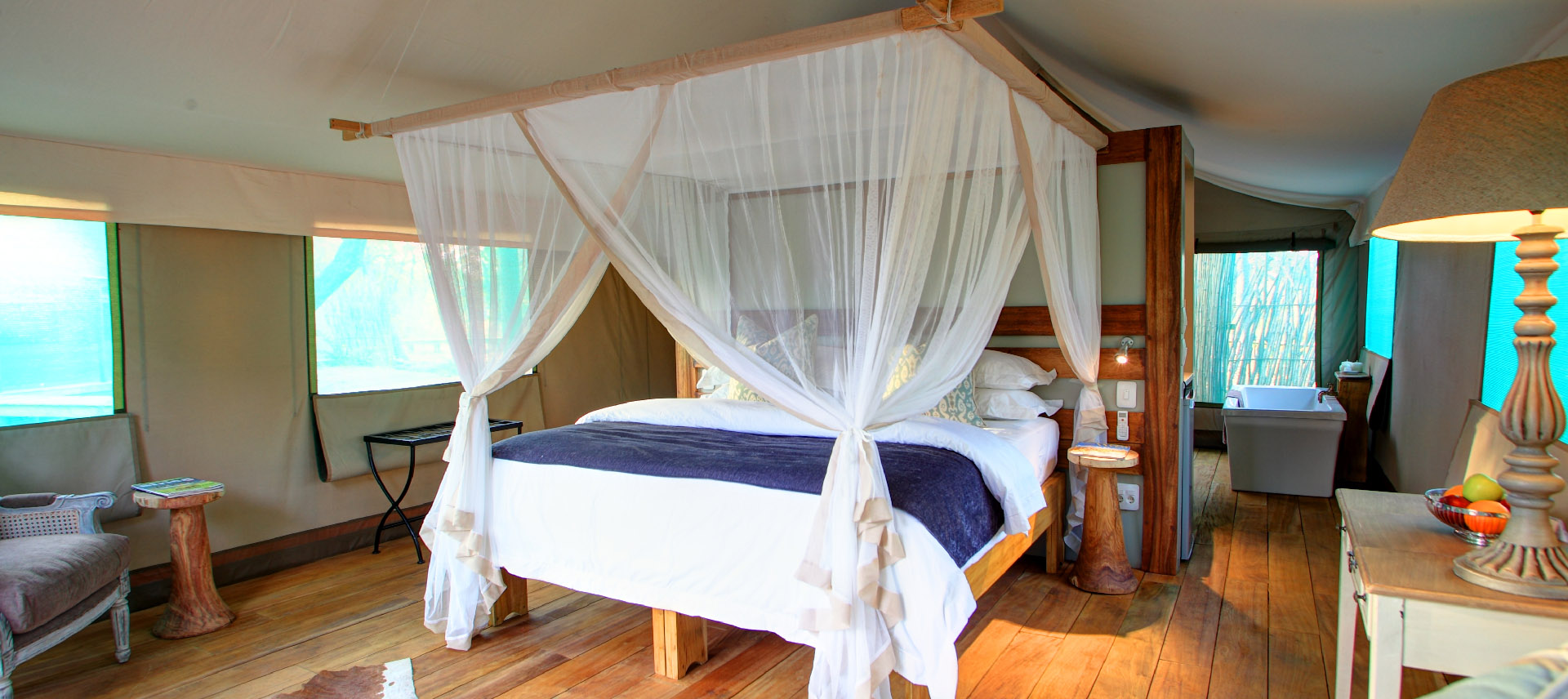 Fathala Safari Tented Lodge Interior